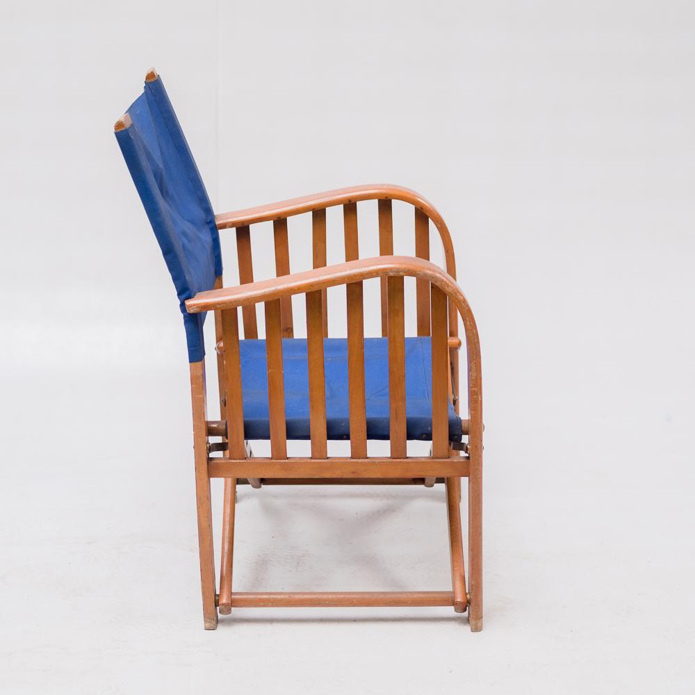 fauteuil de plage pliant vers 1950 locafilm. Black Bedroom Furniture Sets. Home Design Ideas