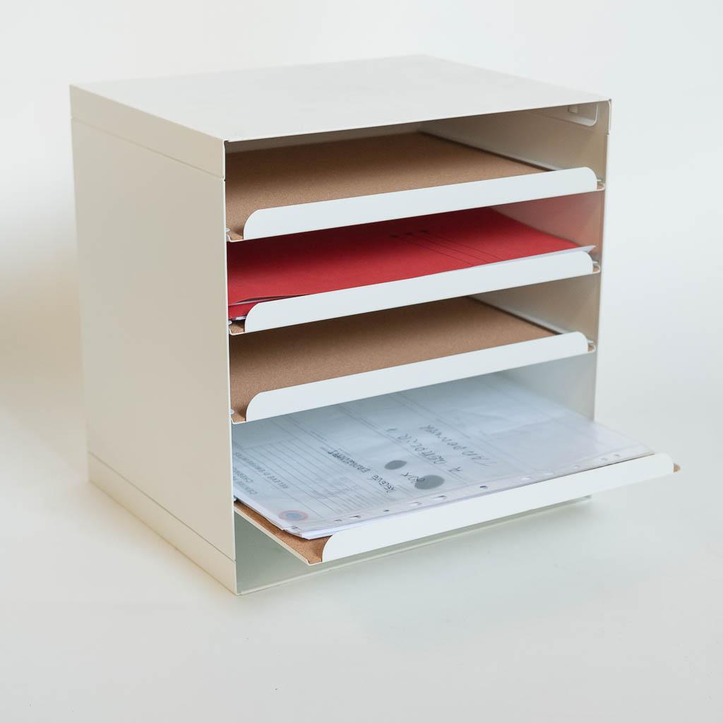 Rangement document métal blanc liège Ikea - LocaFilm